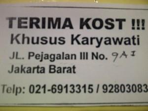 Iklan Terima Kost Murah Khusus Karyawati