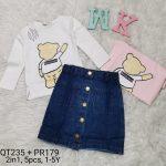 QT235PR179, Baju Rok Jeans (2in1), Seri 5, Uk 1-5th, @72rb