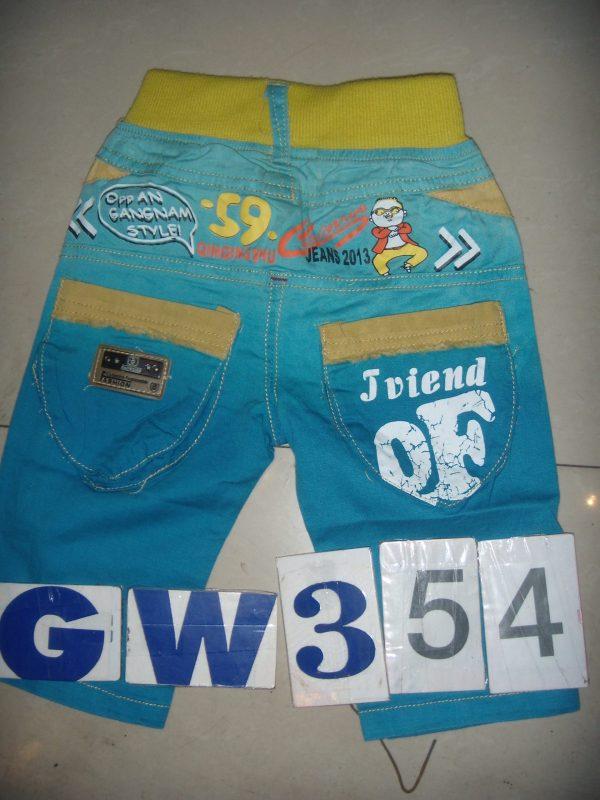 GW354 Celana Tanggung Seri 5 Uk6 14 2 5th Orange Ijo Biru @40rb scaled winkionline