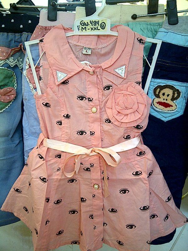 GW494 Dress Bunga Mata Seri4 M XXL 1 4Y Pink Hijau Kuning @38rb winkionline