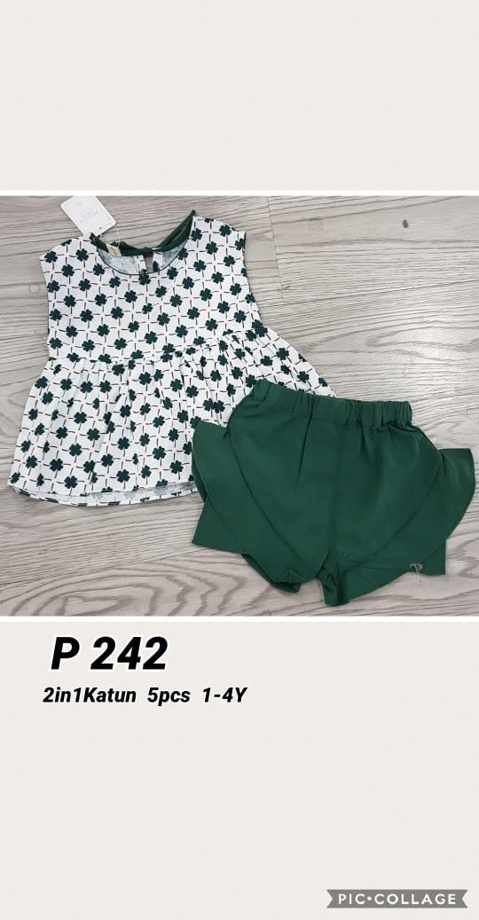 P242 Baju Celana 2in1 Seri 5 1 4th @65rb winkionline