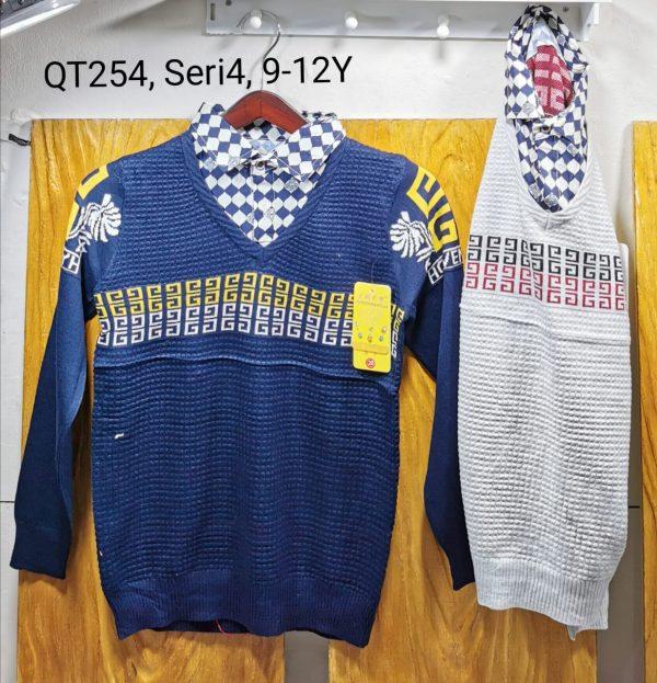QT254 Sweater Kerah Seri 4 Uk. 9 12th Bahan Rajut Wangki @68rb winkionline