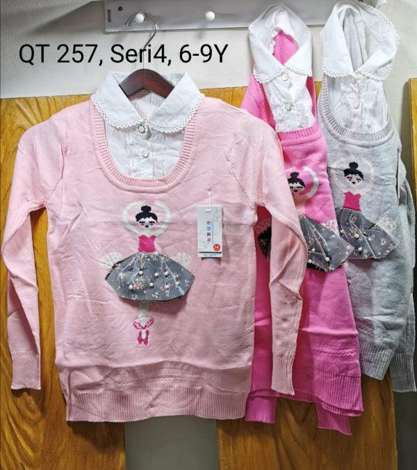 QT257 Sweater Kerah Seri 4 Uk. 6 9th Bahan Rajut Wangki @68rb winkionline
