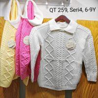 QT259 Sweater Kerah Seri 4 Uk. 6 9th Bahan Rajut Wangki @68rb winkionline