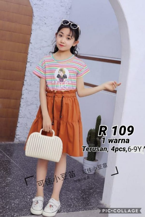 R109 Dress Trendy Seri 4 6 9th 1 WARNA @72rb winkionline