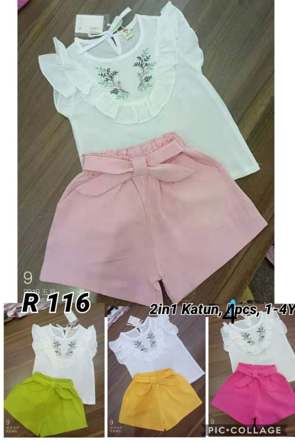 R116 Baju Celana 2in1 Seri 4 1 4th @65rb winkionline