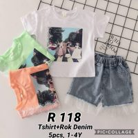 R118 Baju Rok Jeans 2in1 Seri 5 1 4th @65rb winkionline