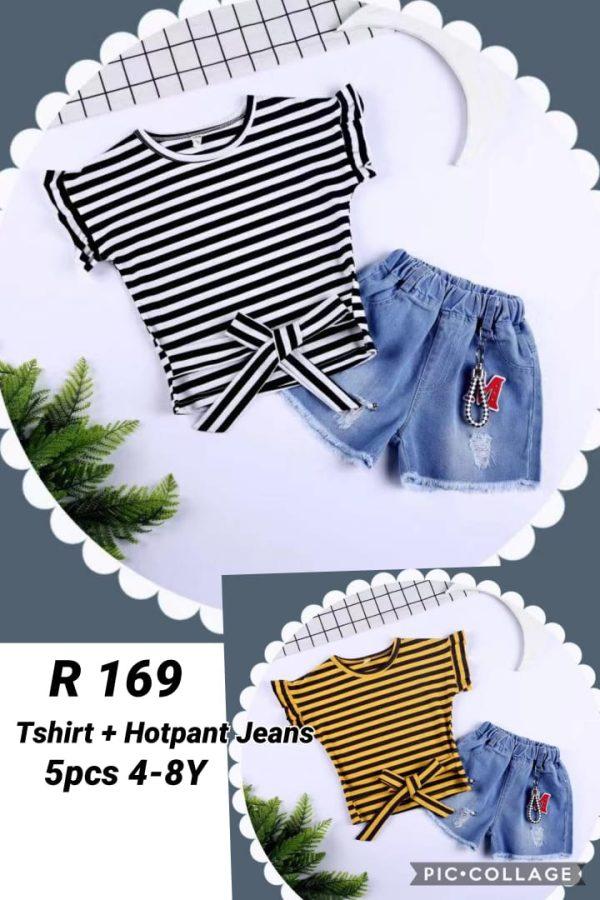 R169 Baju Celana Jeans 2in1 Seri 5 4 8th @65rb winkionline