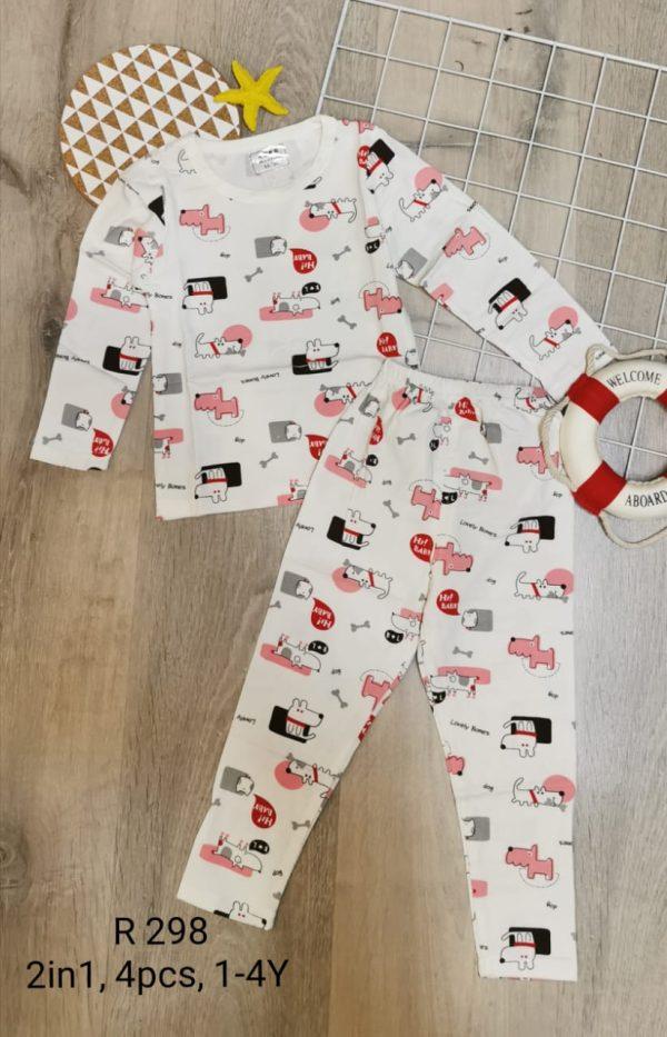 R298 Baju Tidur Anak Seri 4 1 3th 1WARNA @45rb winkionline
