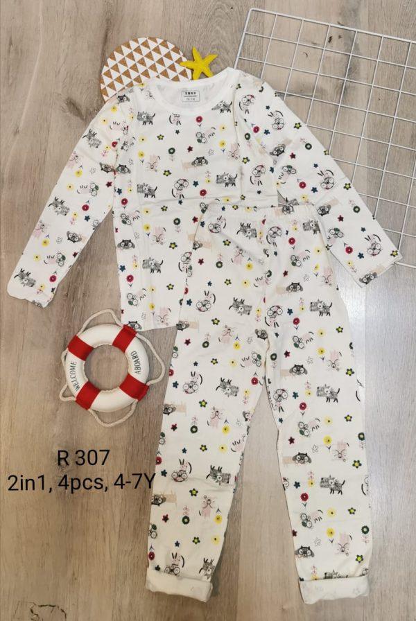R307 Baju Tidur Anak Seri 4 4 7th 1WARNA @53rb winkionline