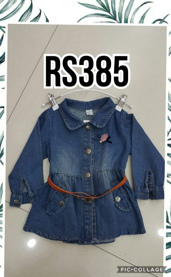 RS385 Baju Dress Denim Seri 4 Uk 3 6th @78rb winkionline