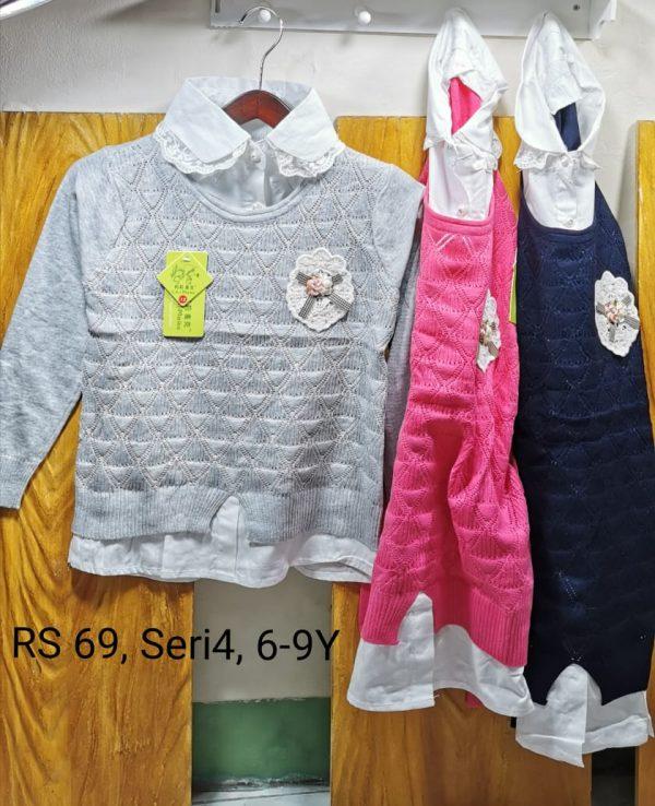 RS69 Sweater Kerah Seri 4 Uk. 6 9th Bahan Rajut Wangki @68rb winkionline