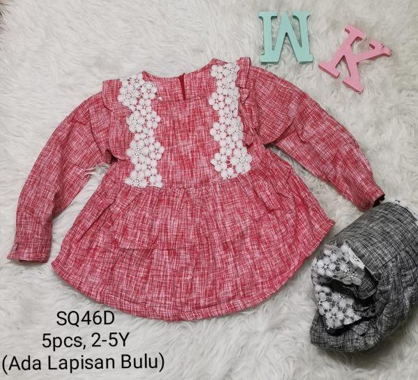 SQ46D Baju Dress Seri 5 Uk 2 5th @40rb winkionline
