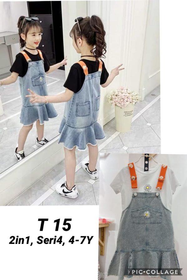 T15 Baju Overall Jeans 2in1 Seri 4 Uk. 4 7th @88rb winkionline