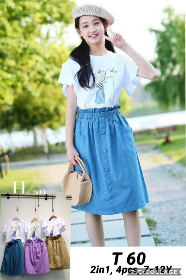 T60 Baju Rok 2in1 Seri 4 Uk 7 12th @85rb 1 winkionline
