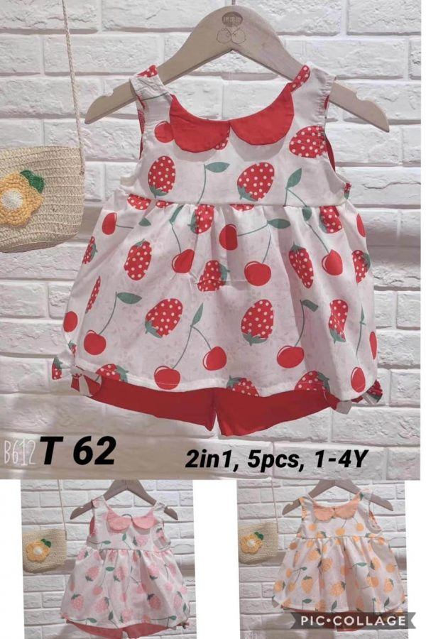 T62 Baju Celana 2in1 Seri 5 Uk 1 4th Bahan Katun Baby @59rb winkionline