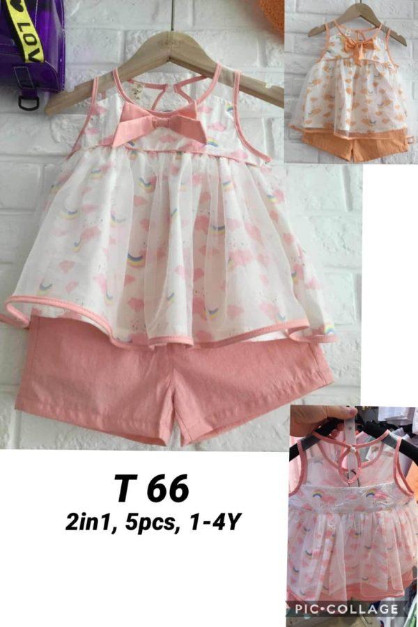 T66 Baju Celana 2in1 Seri 5 Uk 1 4th Bahan Katun Baby @59rb winkionline