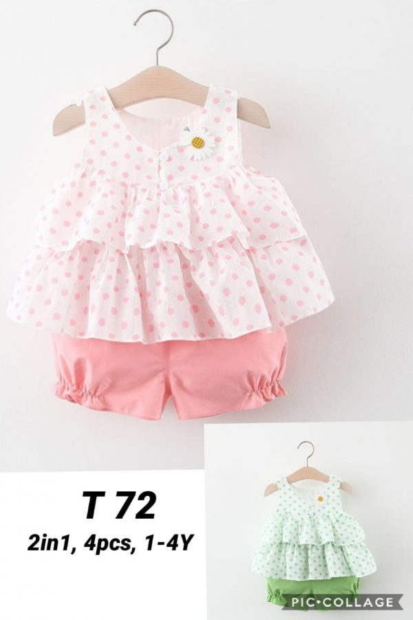 T72 Baju Celana 2in1 Seri 4 Uk 1 4th Bahan Katun @59rb winkionline