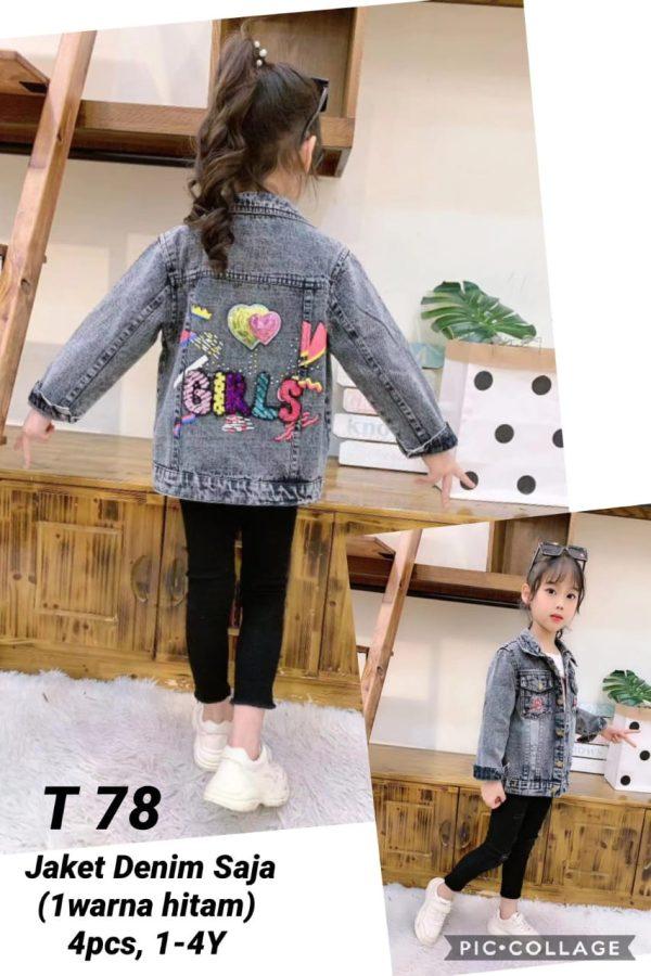 T78 Jaket Jeans Seri 4 1 4th 1 Warna Hitam @85rb 1 winkionline