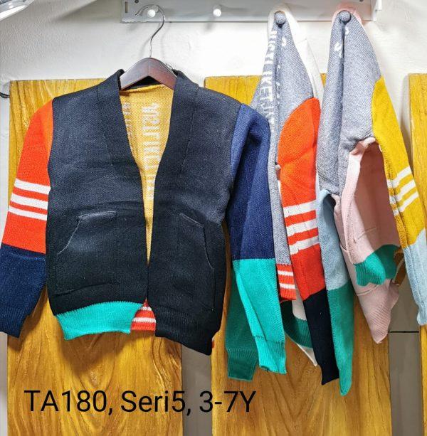 TA180 Sweater Kerah Seri 5 Uk. 3 7th Bahan Rajut Wangki @68rb winkionline