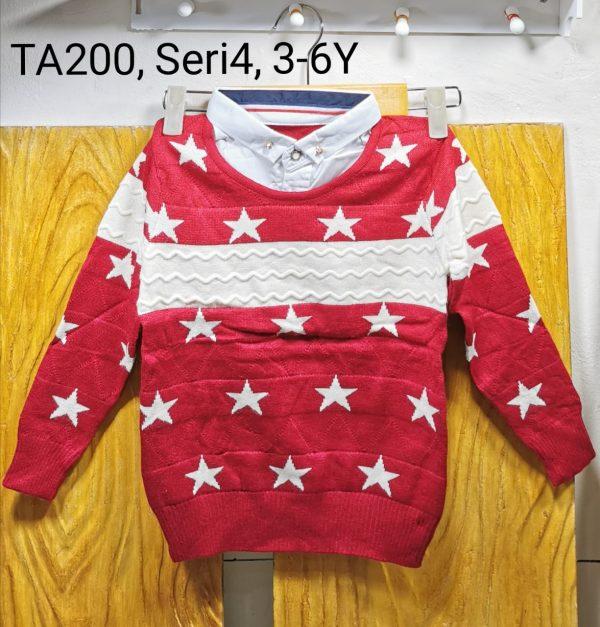TA200 Sweater Kerah Seri 4 Uk 3 6th 1WARNA @68rb winkionline