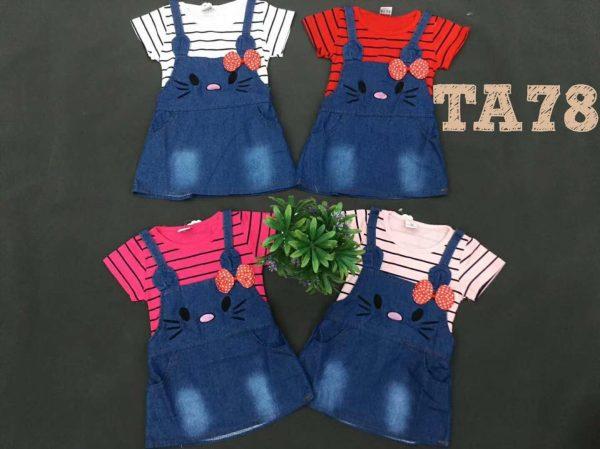 TA78 Baju Overall Jeans 2in1 Seri 4 Uk 1 4th @58rb winkionline