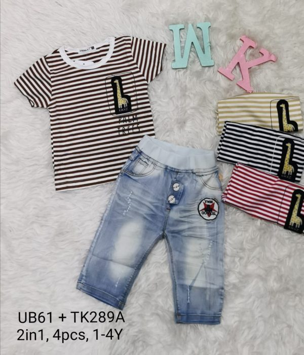 UB61TK289A Baju Celana Jeans 2in1 Seri 4 Uk 1 4th @88rb winkionline